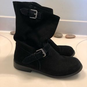Report suede motorcycle boots